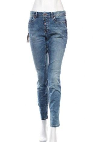 Дамски дънки Tom Tailor, Размер M, Цвят Син, 72% памук, 27% полиестер, 1% еластан, Цена 63,00лв.
