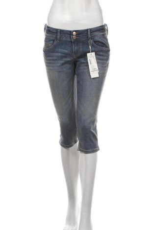 Дамски дънки Tom Tailor, Размер M, Цвят Син, 82% памук, 16% полиестер, 2% еластан, Цена 59,25лв.