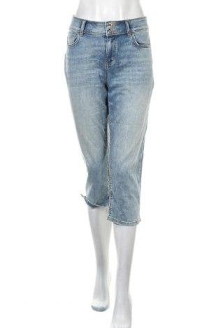 Дамски дънки Tom Tailor, Размер XL, Цвят Син, 69% памук, 20% полиестер, 9% вискоза, 2% еластан, Цена 11,81лв.