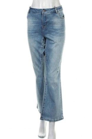 Дамски дънки Vero Moda, Размер XL, Цвят Син, 94% памук, 4% полиестер, 2% еластан, Цена 27,65лв.