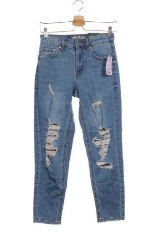 Дамски дънки Wild Fable, Размер XS, Цвят Син, 99% памук, 1% еластан, Цена 46,31лв.