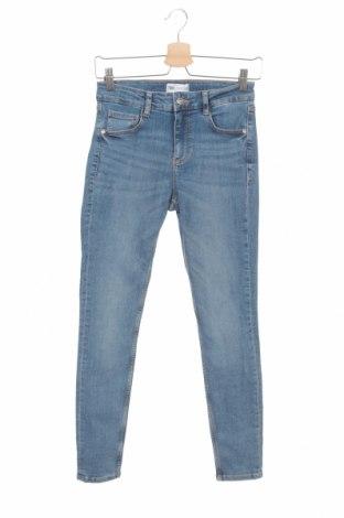 Blugi de femei Zara, Mărime S, Culoare Albastru, 94% bumbac, 6% elastan, Preț 92,11 Lei
