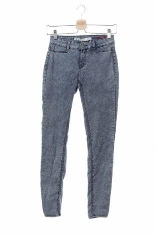 Дамски дънки Zara Trafaluc, Размер XS, Цвят Син, Цена 24,26лв.