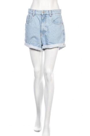 Pantaloni scurți de femei Zara, Mărime M, Culoare Albastru, Bumbac, Preț 87,50 Lei