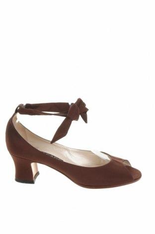 Дамски обувки Casadei, Размер 38, Цвят Кафяв, Текстил, Цена 124,00лв.