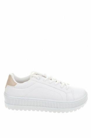 Дамски обувки NLY, Размер 37, Цвят Бял, Еко кожа, текстил, Цена 40,92лв.
