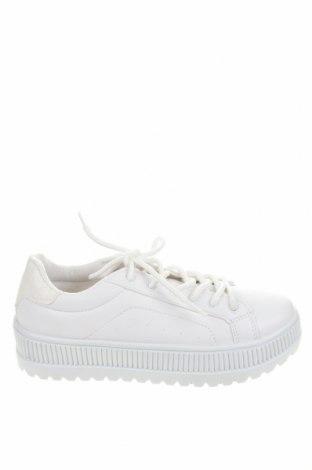Дамски обувки NLY, Размер 38, Цвят Бял, Еко кожа, текстил, Цена 43,47лв.