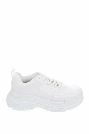 Дамски обувки NLY, Размер 36, Цвят Бял, Еко кожа, текстил, Цена 42,09лв.