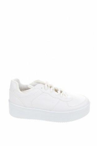 Дамски обувки NLY, Размер 39, Цвят Бял, Еко кожа, текстил, Цена 51,75лв.