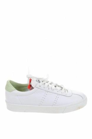 Дамски обувки Superga, Размер 38, Цвят Бял, Естествена кожа, еко кожа, Цена 84,00лв.