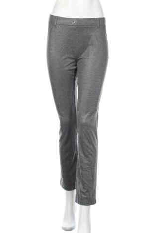 Дамски панталон Beta Brand, Размер M, Цвят Сив, 74% полиестер, 23% вискоза, 3% еластан, Цена 10,00лв.