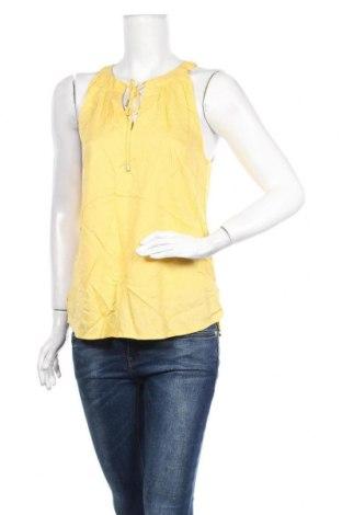 Γυναικείο αμάνικο μπλουζάκι Tom Tailor, Μέγεθος M, Χρώμα Κίτρινο, Βισκόζη, Τιμή 4,42€