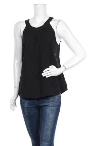 Γυναικείο αμάνικο μπλουζάκι Tom Tailor, Μέγεθος M, Χρώμα Μαύρο, Βισκόζη, Τιμή 4,55€