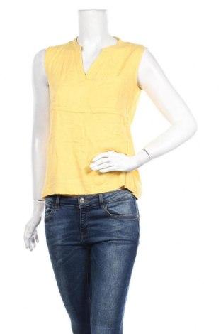 Γυναικείο αμάνικο μπλουζάκι Tom Tailor, Μέγεθος M, Χρώμα Κίτρινο, Βισκόζη, Τιμή 4,64€