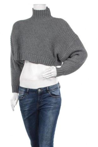 Дамски пуловер SHEIN, Размер S, Цвят Сив, Акрил, Цена 17,01лв.