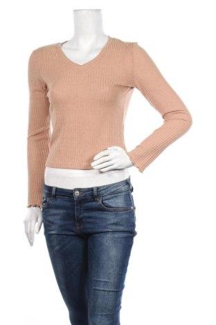 Дамски пуловер SHEIN, Размер S, Цвят Бежов, 97% полиестер, 3% еластан, Цена 11,34лв.