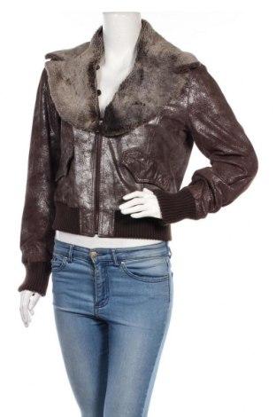 Дамско кожено яке Bata, Размер L, Цвят Кафяв, Естествена кожа, Цена 87,04лв.
