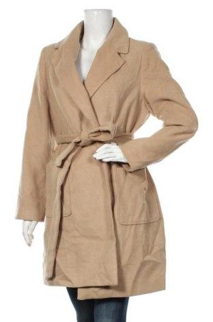 Дамско палто Ally, Размер XL, Цвят Бежов, 92% полиестер, 8% вискоза, Цена 25,62лв.