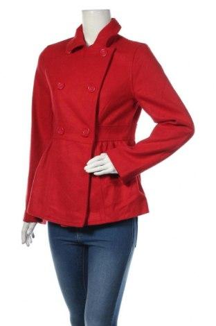 Дамско палто Hot Options, Размер M, Цвят Червен, Полиестер, Цена 16,80лв.