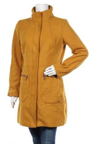 Дамско палто Tom Tailor, Размер L, Цвят Жълт, 61% полиестер, 17% вискоза, 11% вълна, 4% полиамид, 4% полиакрил, 3% памук, Цена 103,35лв.