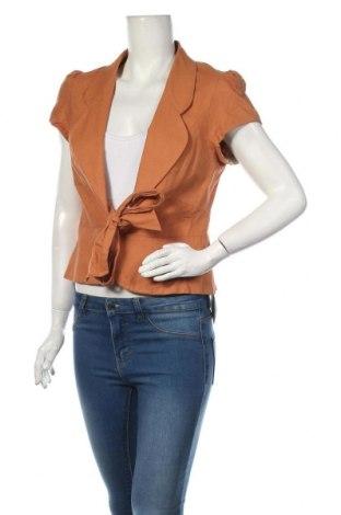 Дамско сако Hot Options, Размер L, Цвят Оранжев, Лен, памук, Цена 5,78лв.