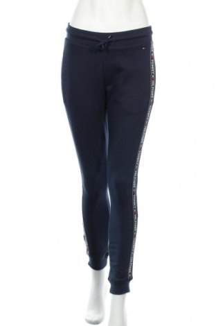Pantaloni trening de femei Tommy Hilfiger, Mărime S, Culoare Albastru, 75% bumbac, 25% poliester, Preț 197,20 Lei