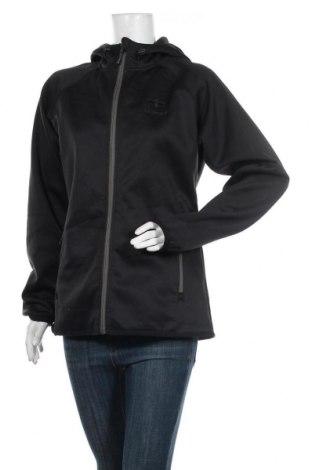 Дамско спортно горнище Hummel, Размер XL, Цвят Черен, Полиестер, Цена 25,20лв.