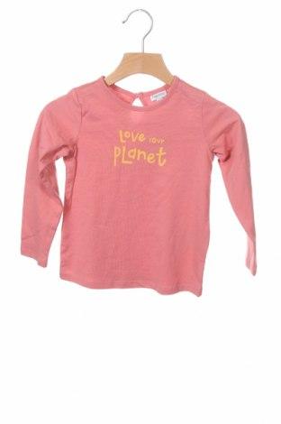 Детска блуза Fagottino By Oviesse, Размер 18-24m/ 86-98 см, Цвят Розов, Памук, Цена 25,50лв.