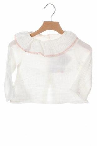 Детска блуза Little Celebs, Размер 9-12m/ 74-80 см, Цвят Бял, Памук, Цена 10,12лв.