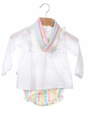 Детски комплект Lola Palacios, Размер 9-12m/ 74-80 см, Цвят Бял, Памук, Цена 12,25лв.