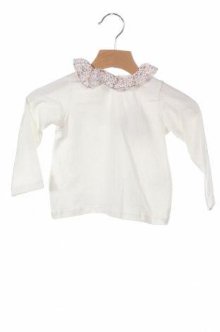Детска блуза Lola Palacios, Размер 9-12m/ 74-80 см, Цвят Бял, 94% памук, 6% еластан, Цена 10,50лв.