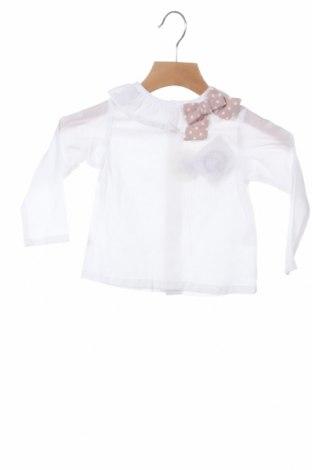 Детска блуза Lola Palacios, Размер 9-12m/ 74-80 см, Цвят Бял, Памук, Цена 8,97лв.
