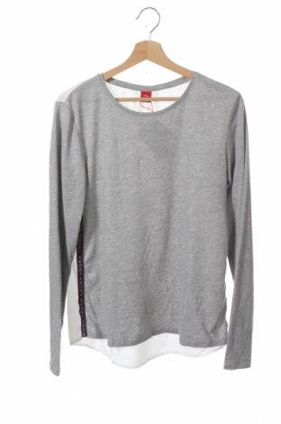 Детска блуза S.Oliver, Размер 15-18y/ 170-176 см, Цвят Сив, Памук, вискоза, Цена 9,66лв.