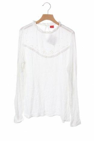 Детска блуза S.Oliver, Размер 15-18y/ 170-176 см, Цвят Бял, Цена 4,99лв.