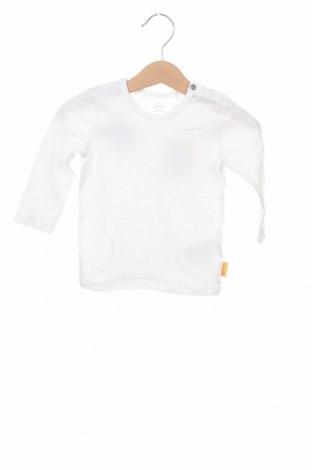 Детска блуза Steiff, Размер 9-12m/ 74-80 см, Цвят Бял, 95% памук, 5% еластан, Цена 10,50лв.