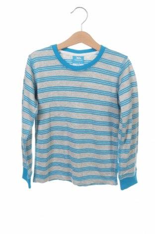 Детска блуза Trespass, Размер 5-6y/ 116-122 см, Цвят Син, 50% памук, 25% полиестер, 25% вискоза, Цена 10,12лв.