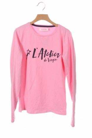 Детска блуза Vingino, Размер 14-15y/ 168-170 см, Цвят Розов, 95% памук, 5% еластан, Цена 7,94лв.