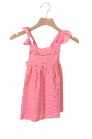 Детска рокля Lola Palacios, Размер 18-24m/ 86-98 см, Цвят Розов, Памук, Цена 12,39лв.