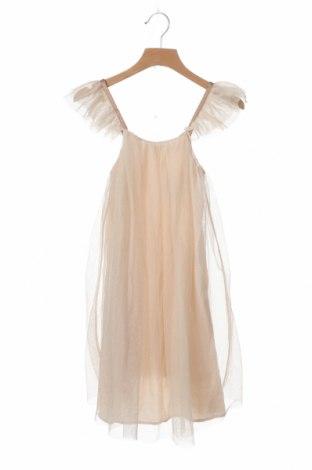 Детска рокля Zara, Размер 7-8y/ 128-134 см, Цвят Бежов, Цена 35,70лв.