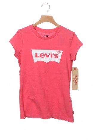 Детска тениска Levi's, Размер 11-12y/ 152-158 см, Цвят Розов, Памук, Цена 34,50лв.