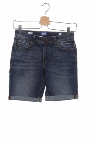 Pantaloni scurți pentru copii Jack & Jones, Mărime 10-11y/ 146-152 cm, Culoare Albastru, 85% bumbac, 13% poliester, 2% elastan, Preț 46,18 Lei
