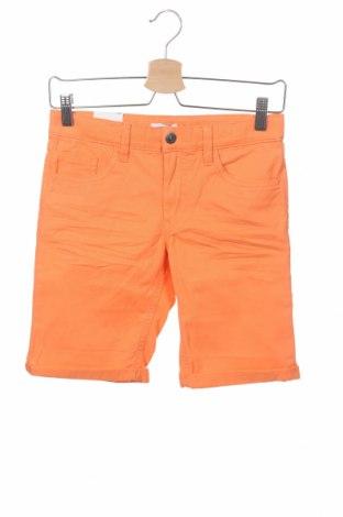 Pantaloni scurți pentru copii Name It, Mărime 12-13y/ 158-164 cm, Culoare Portocaliu, 98% bumbac, 2% elastan, Preț 37,89 Lei