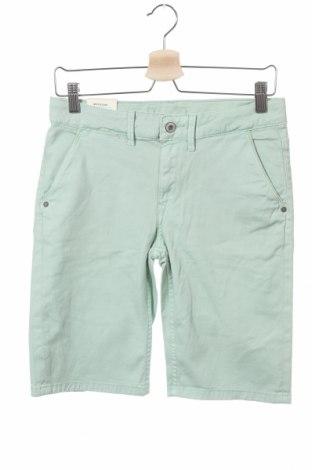 Pantaloni scurți pentru copii Pepe Jeans, Mărime 13-14y/ 164-168 cm, Culoare Verde, 98% bumbac, 2% elastan, Preț 88,52 Lei