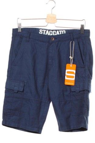 Pantaloni scurți pentru copii Staccato, Mărime 14-15y/ 168-170 cm, Culoare Albastru, Bumbac, Preț 42,34 Lei