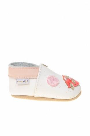 Детски обувки, Размер 15, Цвят Бял, Естествена кожа, Цена 16,52лв.