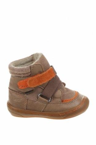 Детски обувки Kickers, Размер 19, Цвят Бежов, Еко кожа, естествен велур, Цена 37,95лв.