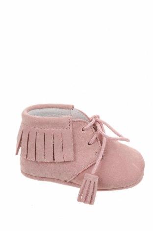 Детски обувки Lola Palacios, Размер 16, Цвят Розов, Естествен велур, Цена 14,75лв.