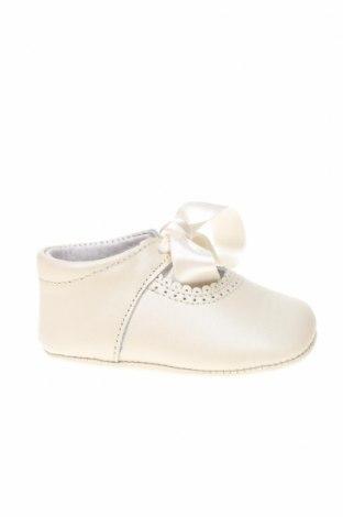 Παιδικά παπούτσια Lola Palacios, Μέγεθος 16, Χρώμα Εκρού, Γνήσιο δέρμα, Τιμή 5,47€