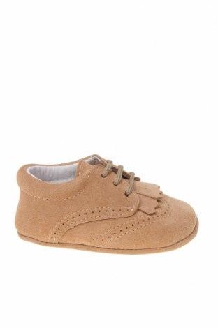 Детски обувки Lola Palacios, Размер 16, Цвят Бежов, Естествен велур, Цена 14,75лв.