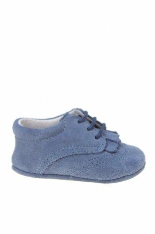 Детски обувки Lola Palacios, Размер 16, Цвят Син, Естествен велур, Цена 14,75лв.